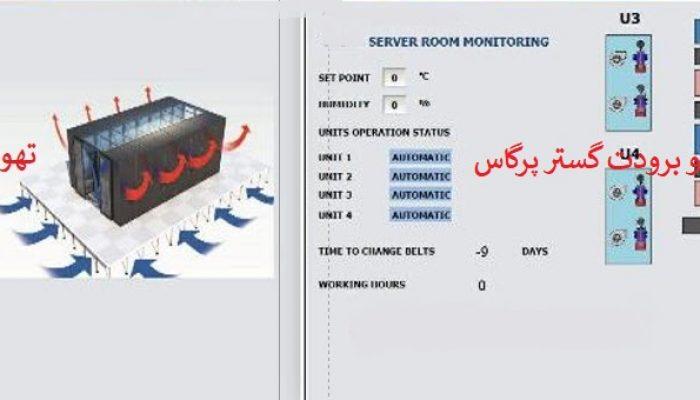 طراحی سیستم نصب کنترل پکیج های سرور روم PLC